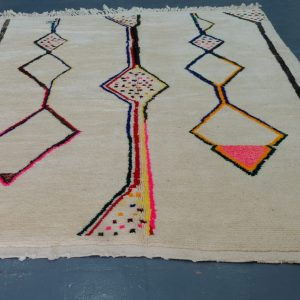 Handmade Geometric Mrirt Colored Rug 8.85 ft x 6.65 ft