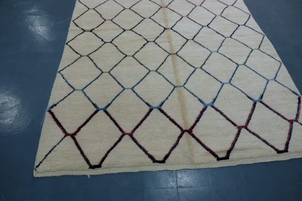 Colored Beni Mrirt rug 10 ft x 6.39 ft