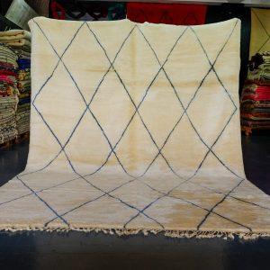 Handmade Beni Ouran rug 11.22 ft x 8.62