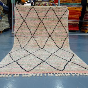 Moroccan Colored Beni Ourain rug 8.69 ft x 4.78 t