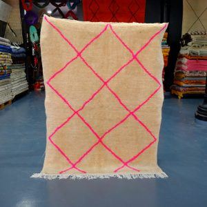 Moroccan Pink Beni Ourain rug 6 ft x 4.52 t
