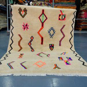 Authentic Handwoven Moroccan Berber Rug 6.23 ft x 4.52 ft