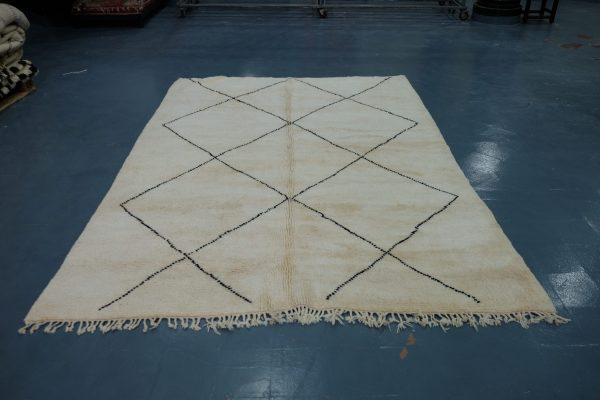 Buy Beni ourain Moroccan rug 9.3 ft x 7.05 ft