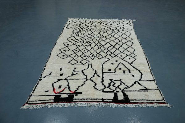 Amazing Azilal rug 8.03 ft x 2.26 ft - Vintage Moroccan Azilal rugs