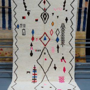 Buy Handmade Geometric Azilal Colored Rug 7.87 ft x 4.56 ft