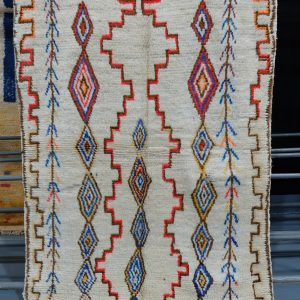 Colored Azilal rug  - Moroccan rug 6 ft x 4.19 ft
