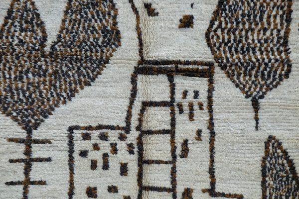 Moroccan Beni Ourain Rug - Azilal Handmade Rug 8.03 ft x 4.59 ft