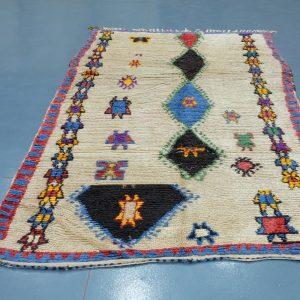 Antique Azilal rug 8.39 ft x 4.69 ft