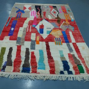 Buy Colored Azilal rug 9  ft x 5.24 ft
