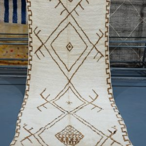 Buy  Beni ourain rug 10.49 ft x 4.39 ft