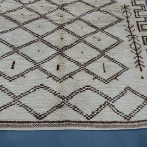 Handmade  Beni ourain rug 6.52 ft x 5.31 ft