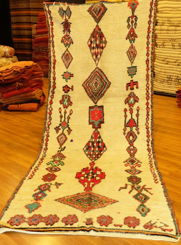 Buy Colored Moroccan Azilal rug, 12.30 ft x 4.65 ft