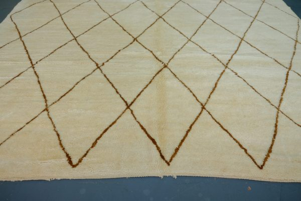 Large & unique Moroccan Beni ourain rug 13 ft x 8 ft
