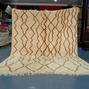 Large Beni Ourain rugs from Morocco 11.05 ft x 8.62 ft