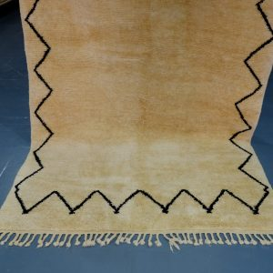 Simple Beni Ourain rugs 8.69 ft x 4.98 ft