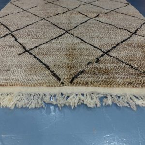 Moroccan brown Beni Ourain colored rug 7.87 ft x 5.01 ft