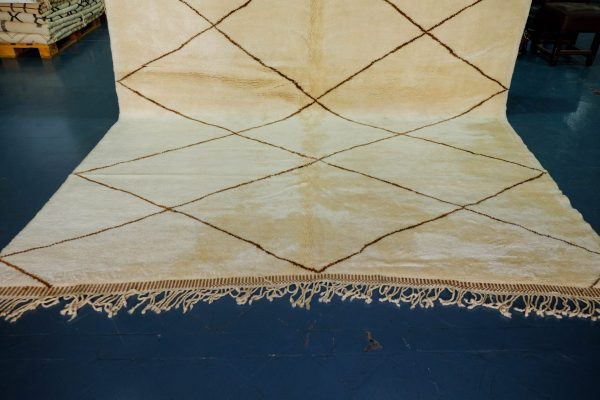 Authentic Beni Ourain rug 10.9 ft x 8.66 ft