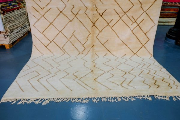Handmade Beni Ourain rug for interior decoration 10 ft x 9.18 ft