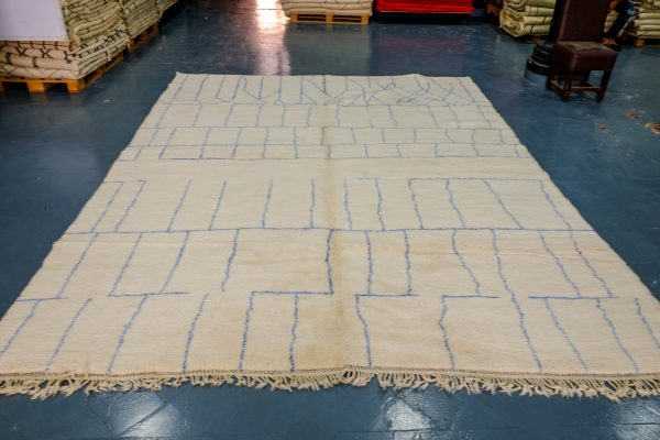 Azilal Berber rug in soft wool 12.8 ft x 9.67 ft