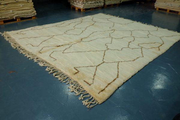 Moroccan Berber Woolen Azilal rug 11.74 ft x 10.03