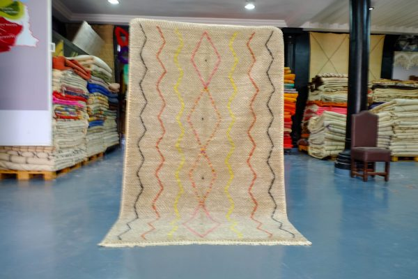 Small colored moroccan rugs 7.87ft x 5.01 ft