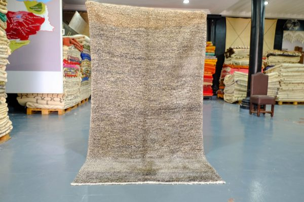 Small handmade Beni Ourain rug 7.74 ft x 4.36 ft