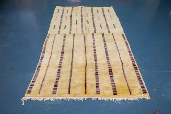 Beautiful Colored Beni Ourain Rugs 8.20 ft x 4.65 ft