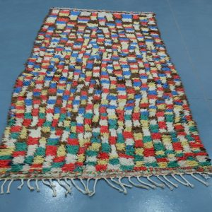 Coloful Moroccan rug  9.28 ft x 4.06 ft
