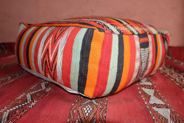 Handmade Moroccan kilim pouf