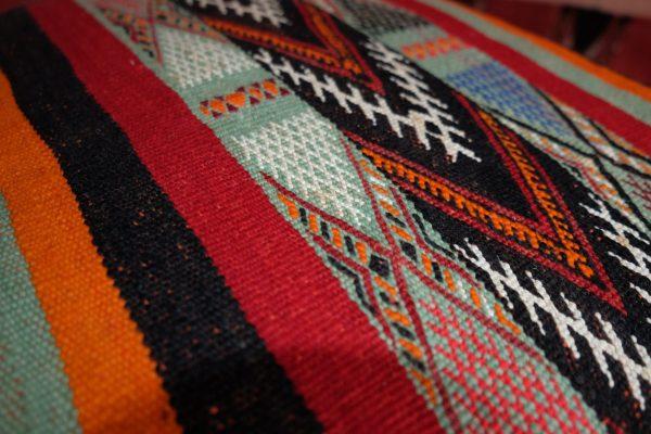 Multicolored moroccan kilim pouf