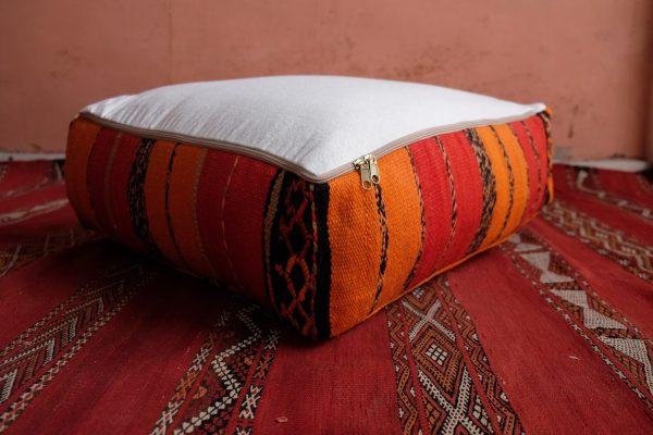 Square Moroccan pouf ottoman