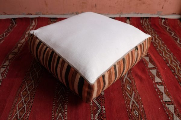 Decoration with Beautiful square Moroccan Poufs