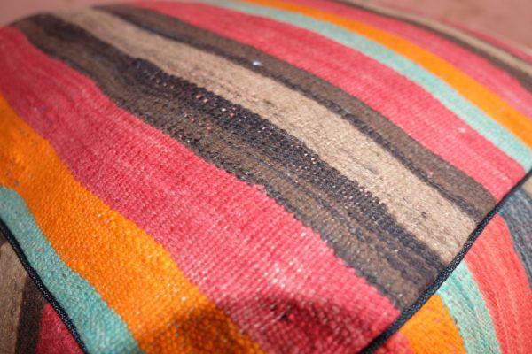 Moroccan square pouf 100% kilim  Handmade