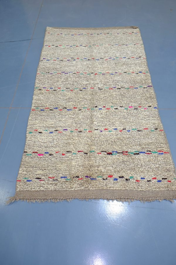 Small Moroccan Azilal rug, 6.49 ft x 3.06 ft