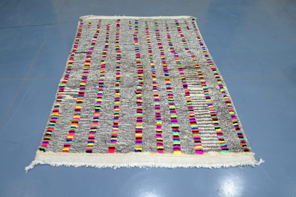 Small Colored Azilal rug, 6.56 ft x 4.59 ft