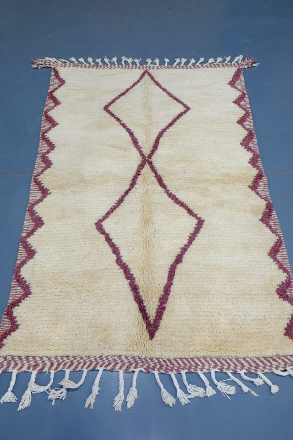 Small Beni Ourain Purple Moroccan rug, 6.29 ft x 4.00 ft
