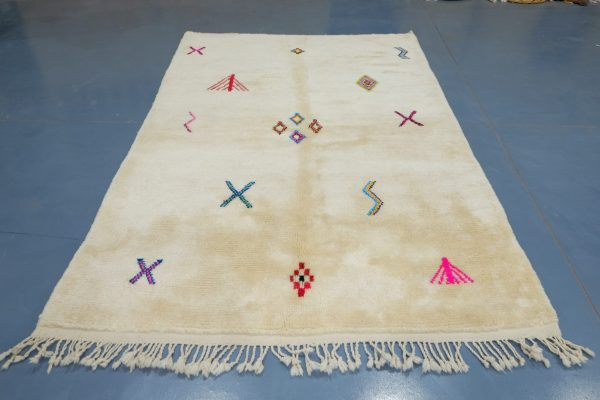 Colorful mrirt beautiful Moroccan design 7.87 ft x 5.05 ft
