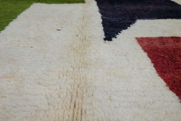 Mrirt beautiful Handmade Moroccan rug, 8.85 ft x 4.59 ft
