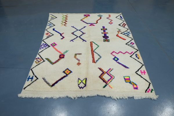 A beautiful Mrirt moroccan rug for your home 6.06 ft x 4.75 ft