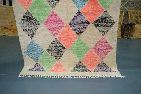 Morrocan Colored Beni Mrirt rug 6.16 ft x 4.78 ft
