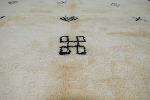 Large mrirt Moroccan rug for living room 7.54 ft x 5.05 ft