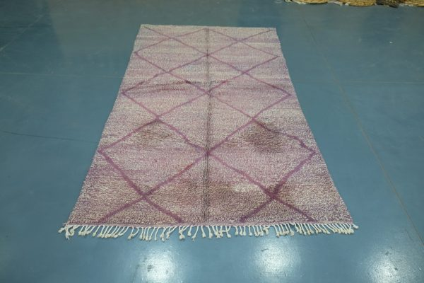 Traditional Beni-Mrirt Moroccan Rug with Colorful modern design 8.36 ft x 4.52 ft