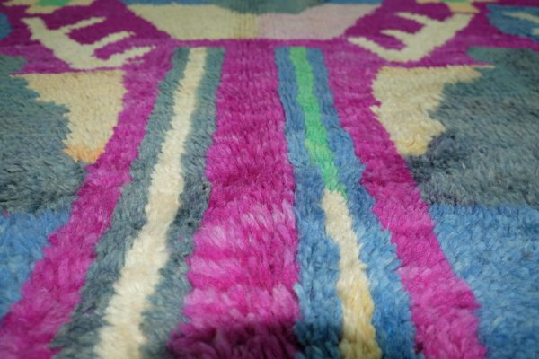 Colored Moroccan rug, 9.44 ft x 5.28 ft