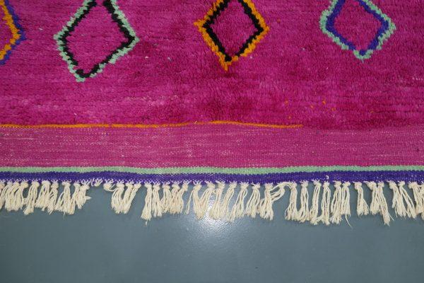 Handmade Purple Moroccan rugs, 7.74 ft x 4.75 ft