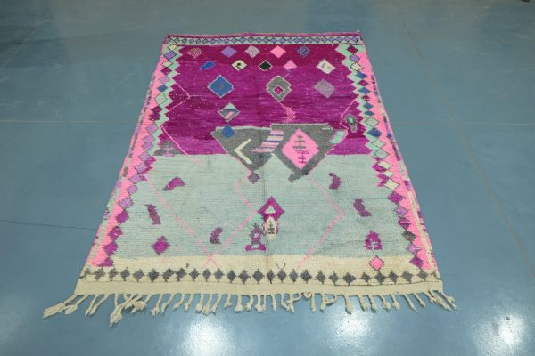 Small Colored Azilal rug, 7.54 ft x 4.92 ft
