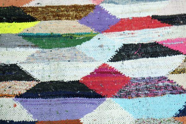 Kilim Moroccan Boucherouite rug 5.11 ft x 3.21 ft
