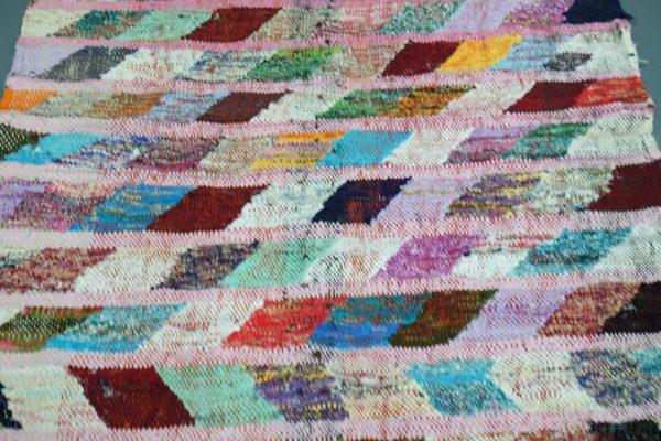 Moroccan Boucherouite rug 5.38 ft x 3.18 ft