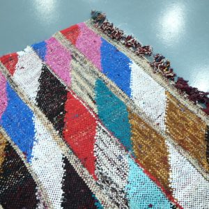 Moroccan Kilim boucherouite rug 5.05 ft x 3.05 ft
