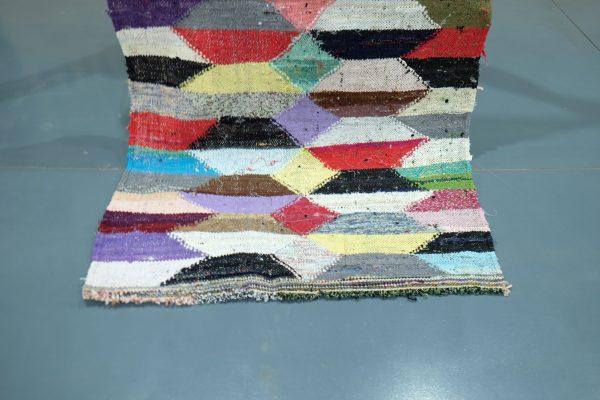 Moroccan Kilim Boucherouite rug 5.67 ft x 3.14