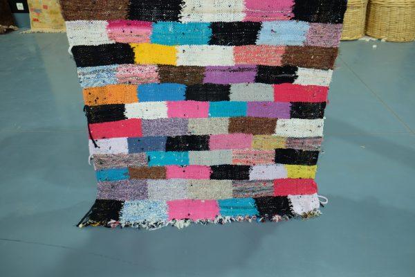 Very special Kilim Boucherouite rug 6.13 ft x 3.28 ft